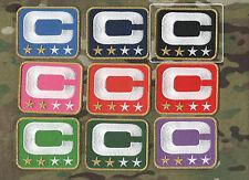 NFL TEAM LEADER JERSEY CAPTAINS PATCH TWO-STAR 2-STAR BLACK CAPTAINS C-PATCH