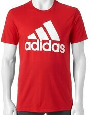 NWT ADIDAS MEN'S Big & Tall Climalite Go To Performance Athletic T-Shirt 5XL Red