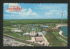 Postcard Greetings from Florida FL Orlando Sea World aerial view chrome