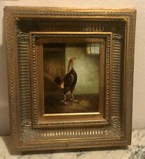 TREVOR JAMES ORIGINAL OIL PAINTING RIGHT FACING ROOSTER