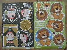 NEW CUT AND CREATE 2  A4 DECOUPAGE  SHEETS PIRATE AND LION UNCUT TOPPERS