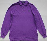 Ralph Lauren Long Sleeve Polo Shirt - Small Size S - Purple - Mens - Jumper