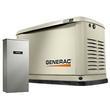 Generac 7033 - 11/10kW Air Cooled Home Standby Generator + 200 Amp Switch (HSB)