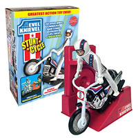 The Amazing Wind-up and go Extreme Evel Knievel Stunt Cycle with Energizer and -