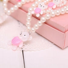Pink Princess Baby Beads Necklace Bracelet Cute Ring Set Jewelry Children Gift