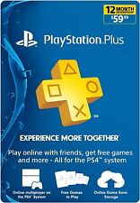 Sony Playstation Plus 1 Año (12 meses) gamecard Psn Ps3 Ps4 Vita * nuevo *