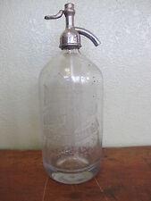 Rare Rochester Soda Water Co Siphon Bottle Soda Fountain Cafe Coffee Seltzer
