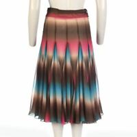 MATTHEW WILLIAMSON Jupe Marron, Rose & Bleu Taille UK 8 - 10 Jm 160