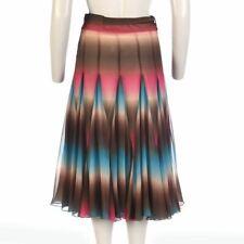 MATTHEW WILLIAMSON Skirt Brown, Pink & Blue Size UK 8 - 10 JM 160