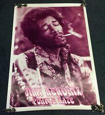 Vintage Original Rare JIMI HENDRIX POSTER 1970s 70s 26x36 Purple Haze HUGE Retro