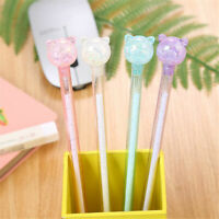 6Pcs Cute Kawaii Transparent Shink Pig Gel Ink Roller Ball Point Pen School Kid