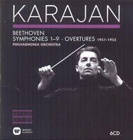 HERBERT VON KARAJAN - SINFONIEN 1-9 & OUVERTÜREN 1951-1955 6 CD NEU BEETHOVEN