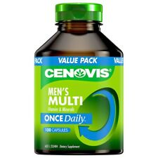 CENOVIS MENS MULTI VITAMINS & MINERALS ONCE DAILY 100 capsules health wellbeing