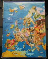 Vintage Jigsaw Puzzle The Continent Of Europe 300pc