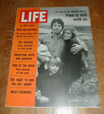 LIFE MAGAZINE Orig 11/7/69 NEWS STAND Issue with FLAP Missing PAUL McCARTNEY NM-