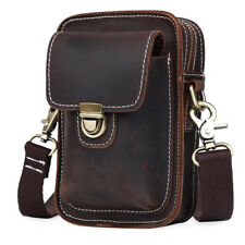 Vintage Men's Leather Bum Belt Waist Fanny Bag Pouch Pack Shoulder Sling Bag