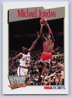 1991-92 MICHAEL JORDAN - Hoops SUPREME COURT Basketball card # 455 CHICAGO BULLS