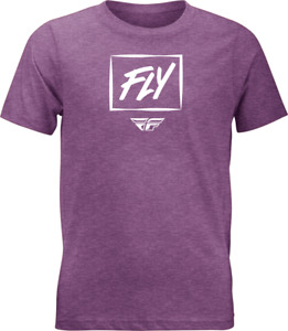 Fly Racing Kid's Zoom Tee T-Shirt (Purple Heather) Youth MD
