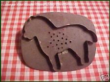 Antique TIN Vtg Xmas flatback Large DOG with Pierced STAR Cookie Cutter AAFA