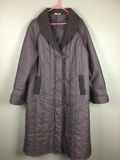 Vintage Aurora International by Madimoiselle Miss Quilted Jacket Coat Sz 16 80s