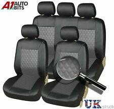 Front & Rear Toyota Avensis Corolla Car Seat Covers Leather Look Full Set Grey