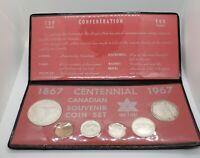 1967 Canada Retro Vintage Holder 6 Coin Set Includes Silver