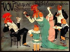 Anuncio Pezziol Vov Licor De Padua Italia Gallo de arte cartel impresión bb1982a