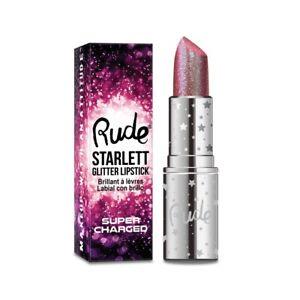 RUDE Starlett Supercharged Color Shift Glitter Lipstick - Prima (Free Ship)