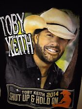 TOBY KEITH  SHUT UP & HOLD ON TOUR 2014 SMALL T SHIRT COUNTRY OUT OF PRINT