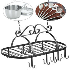 Hanging Iron Pot Rack Kitchen Storage Holder Kitchen Cookware Organizer Usa