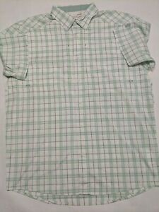 Under Armour New Tide Chaser 2.0 Plaid Short Sleeve Fishing Shirt Men's Large