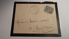 Enveloppe vers St Flour - 1894 - Sur Sage 15c - Convoyeur Le Puy à Langeac