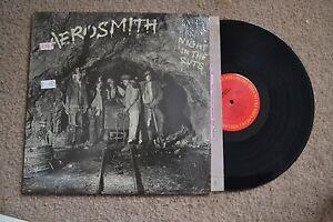 Aerosmith Night InThe Ruts Rock shrink w/ inner Record LP VG++