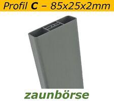 "Musterstück - Zaunlatte C (85x25x2mm) ""basaltgrau"" Profiware Gartenzaun Staketen"