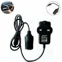 To 12V Car Cigarette Lighter Socket Female Power Converter Adapter EU UK US Plug