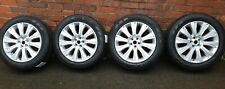 """for RANGE ROVER EVOQUE 19"""" SET ALLOY WHEELS TYRES SILVER 235/55/19 USED LR084669"""