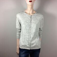 GAP Damen Strickjacke XL 42 Grau Meliert Baumwolle Oberteil Basic Classy Style