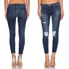 J Brand Womens Size 29 Distressed Cropped Skinny Jeans Dark Wash Troublemaker