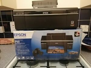 EPSON STYLUS P50 PHOTO PRINTER ( Preowned) IN ORIGINAL BOX.