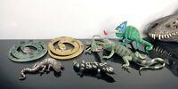 Vintage AAA K&M & Safari Ltd Lot of rubber Lizards Iguana Snakes Chameleon Rare