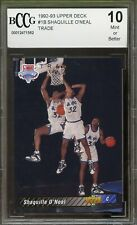1992-93 Upper Deck #1B Shaquille O'Neal Rookie Card BGS BCCG 10 Mint+