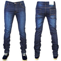 MENS SKINNY JEANS SUPER STRETCH SKINNY SLIM FIT JEANS ALL WAIST & LEG SIZES