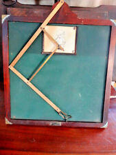 Antique NY Woodworking Corp Tracing Industrial Board Early 1900's Wood & Brass