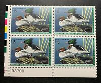 WTDstamps - #RW61 1994 Plate Block - US Federal Duck Stamp - Mint OG NH
