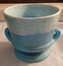Vintage Hull USA Planter Pottery Drip Glaze Blue white