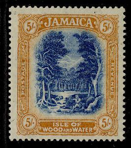 JAMAICA GV SG88a, 5s blue & pale dull orange, VLH MINT. Cat £50. WMK MULT CA