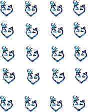 Blue Camo Deer Heart  Waterslide Nail Decals/ Nail Art