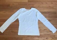 Patagonia Women's Medium 100 % Organic Cotton Long Sleeve T-Shirt White