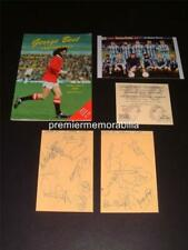 More details for george best testimonial programme 1988 + signed (reprint) extras