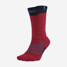NIKE ELITE VERSATILITY Basketball Crew Socks L (8-12) SX5369-658 Red/Black/Blue
